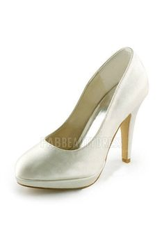 Women's Satin Stiletto Heel Closed Toe Platform Pumps Shoes
