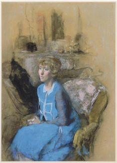La dame en bleu v. 1925-30, same model and dress as XII-42 (Emmy Lynn?) Réunion des Musées Nationaux-Grand Palais -