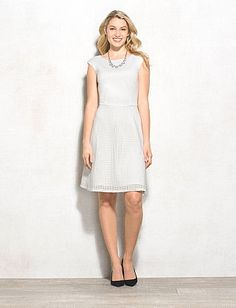 Scuba Cutout Fit-and-Flare Dress