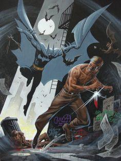 -Batman vs Zsasz by Norm Breyfogle.