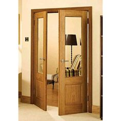 CHISWICK OAK FRENCH DOORS: ->These doors are supplied in a beautiful Oak timber & factory finished. ->Clear Bevelled Safety Glass. ->Clear Satin Lacquer. A diy room decor. Perfect hallway idea. A must in your bucket list #CustomMade #FireDoor #InteriorDoor #ExteriorDoor #GlassDoor #FrenchDoor #InternalDoor #ExternalDoor #GlassArt #Oak #OakDoor