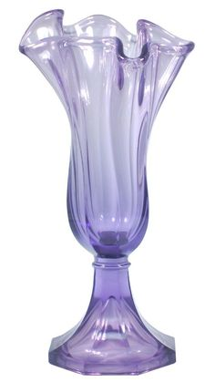 fenton vases | Vivid Violet, a home decorating staple. This Handkerchief Vase will ...