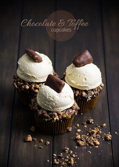 Chocolate & Toffee Cupcakes   sugar & snapshots