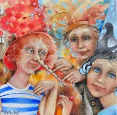 "BLATTON - ""VIRTUOSO""    #art #fineart #oilpainting #oilpaintingoncanvas #artist #artists #painter #painters #painting #paintings #oilpaintings #oiloncanvas #artwork #figurativeart #portrait #contemporaryart #modernart #dailypainting #children #Blatton #MonicaBlatton #love #surreal #surrealism"