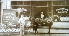 horse and carriage bakery delivery | 1900s