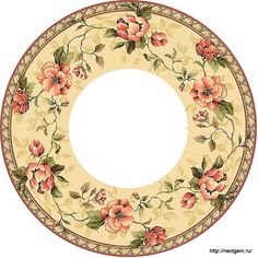 Round floral frames for decoupage. - 1 (700x700, 347Kb)