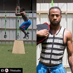 """#TrainLikeAPro with Cedric Griffin at @7fitstudio using #Hyperwear gear starting in October! #HyperVestPRO #SandBell #SteelBell #SandRope #FitRUCK  #Repost  ・・・  I'm a fan of creating unique workouts and with the use of Hyperwear equipment I can do just that. Starting October-December 2015, I will be introducing my Train Like A Pro Series. So if excellence is your style, come train with me, Cedric Griffin here at 7 Fit Studio and lets endure the elements and natural environment. """"Hook Em"""""""