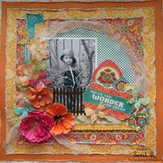 Bohemian Bazaar (g45 papers)...Scattered Pictures and Memories: Dream and Wonder - Scraps of Darkness Gypsy Summer Kit