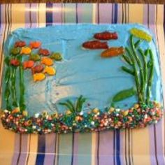 Undersea Cake - looks like a fishtank to me!  Love it!