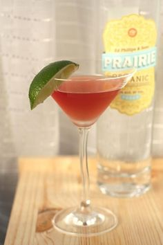 Prairie Organic GF Vodka & Lingonberry Martini. Made these and they are yum. Not too sweet, just smooth. IKEA has lingonberry saft (juice concentrate) for recipe.