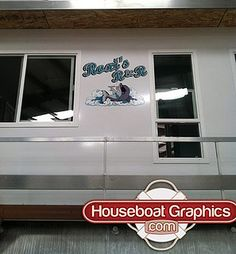 Houseboatgraphicsbeforeafter Graphics - Houseboats vinyl decals