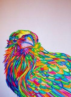 Quoth The Rainbow Print Edgar Allen Poe by PaintMyWorldRainbow