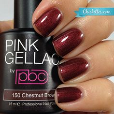 Pink Gellac #150 Chestnut Brown available at Chickettes Boutique