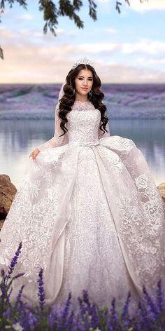 24 Disney Wedding Dresses For Fairy Tale Inspiration ❤ See more: http://www.weddingforward.com/disney-wedding-dresses/ #wedding #dresses #disney
