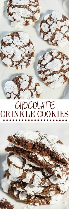 Chocolate Crinkle Cookies #Christmas #Food #Family #ShermanFinancialGroup