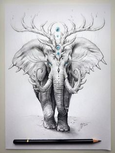 Elephant Drawing by Jojoes Art http://webneel.com/25-beautiful-color-pencil-drawings-valentina-zou-and-drawing-tips-beginners | Design Inspiration http://webneel.com | Follow us www.pinterest.com/webneel