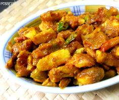 Jackfruit seeds delicately stir fried in a hot spicy sauce.