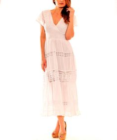 Love this White Crochet Maxi Dress by Sol Clothing on #zulily! #zulilyfinds