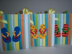 brown paper bag card