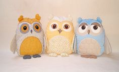Organic Owl Owl Bedroom Decor Owl Pillow by Customquiltsbyeva, $40.00