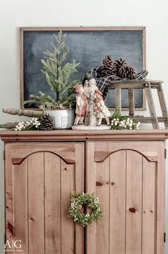 anderson + grant: Decorating for Winter and Behind the Scenes Tips for Your Home Cottage Christmas, Primitive Christmas, Country Christmas, Christmas Home, Antique Christmas, Christmas Ideas, Christmas Crafts, Christmas Arrangements, Christmas Decorations
