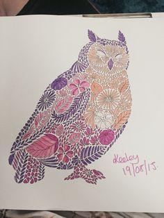 Owl From Millie Marottas Animal Kingdom Colouring Book