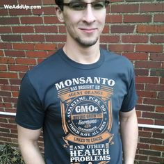 Educate people on the toxic products Monsanto has brought into our world.  This organic cotton t-shirt benefits #MarchAgainstMonsanto and is currently on sale!  Go to WeAddUp.com.  #organic  #organicfood  #organico  #organiccotton  #organicliving  #organi