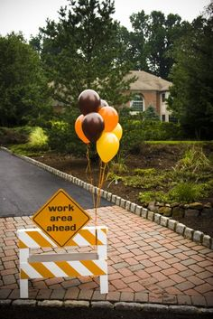 Construction Party {Boys Birthday Party Ideas}     Bob the Builder can we fix it?  Yes we can!  This amazing construction, Bob the Builder, party has everything.  Hard hats, tools, caution tape, sand and dump trucks.  A homemade banner and fabric caution tape garland.  A sand table for lots of digging.  Fun food ideas.