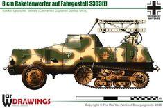 8cm Raketenwerfer auf Fahrgestell S 303(f)