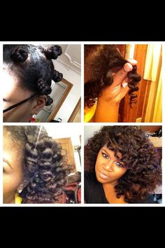 Bantu knot out on natural/ relaxed hair