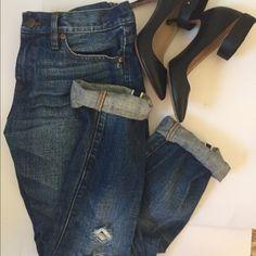 J.Crew Broken in Boyfriend Jeans Slim fit Boyfriend jeans, a staple in everyone's wardrobe!! Size 27   Worn just a few times J. Crew Jeans Boyfriend