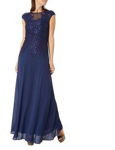 SWING Abendkleid mit floraler Spitze in Blau / Türkis online kaufen (9542830) | P&C Online Shop