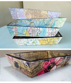 Out to find wooden trays to decoupage. Perfect for trinkets, keys etc..