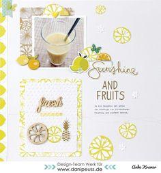 Layout von Anke Kramer für www.danipeuss.de | #PinkPaislee - Citrus Bliss