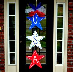 4th of July Wreath Door Hanger 4th of July Decor by LooLeighsCharm, $47.00