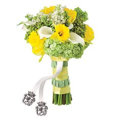 daffodil and calla lily boquet- take out all the green and just have the lily and daffodils??