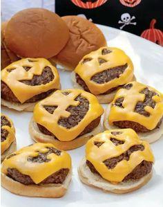 Jack O' Lantern Burgers | 31 Last-Minute Halloween Hacks