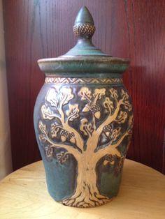 Acorn Finial Jar | Foxlo Pottery | 2013 Tree Exhibition | Amphora Gallery, Cambria CA