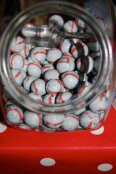 baseball candies for baseball themed baby shower