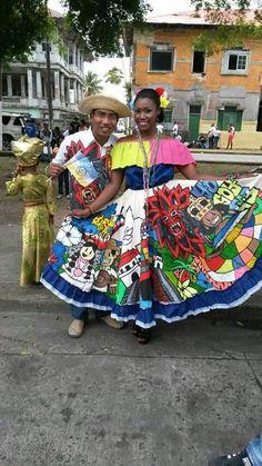 Orgullosamente mis panameños.. Comemorando a  Colón