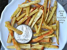 Parsnip Fries with Horseradish Rosemary Mayo