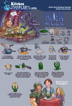 Kitchen Overlord - Alien Eggs Illustrated Recipe