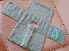 KOLAY BEBEK CEKETİ Malzemeler: 1 Yumak Nako baby lüks minnoş bebe yünü 3,5 numara şiş Hazırlanışı: ÖN: Şişimize 40 ...