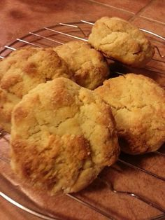 almond-flour-biscuits!  I made these tonight to go with leftover crockpot jambalaya and they are AMAZING!  I was out of honey so I added raw maple syrup instead. :-)