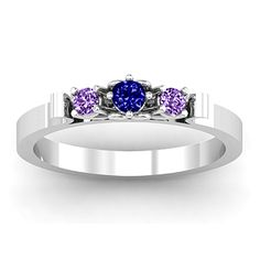 3-Stone Ring with Heart Gallery | Jewlr