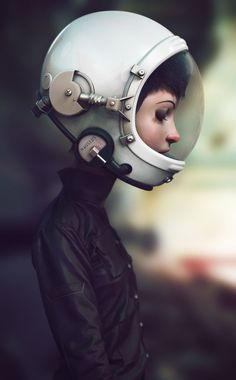 Freaking cool.      Space Cadet by Marco Nogueira