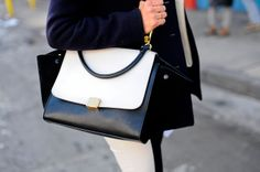 An Up-Close Look at All the Gorgeous Shoes and Bags of Fashion Week: New York Fashion Week Street Style Fall 2013 : New York Fashion Week Street Style Fall 2013 Street Style Shoes, New York Fashion Week Street Style, Autumn Street Style, Op Art, Celine Trapeze Bag, Celine Bag, My Bags, Fashion Shoes, Purses