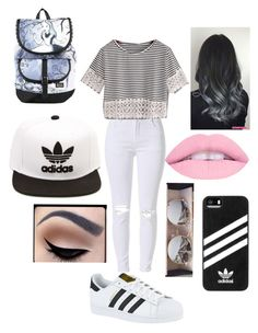 """Untitled #219"" by jacobsbae ❤ liked on Polyvore featuring WithChic, adidas and Disney"