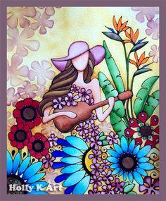 Holly Kitaura Art @ http://www.hollyvision.biz -  Hawaii art, Hawaiian art, Hawaii artist, Hawaiian artist, Hawaii art gallery, Hawaii painting, tropical art, ukulele girl