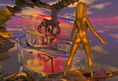 "Bryce, Series ""Otherworld"", 1999/2000 Fractal Art, Fractals, Photo Manipulation, Disney Characters, Fictional Characters, Digital Art, Disney Princess, Painting, Paintings"
